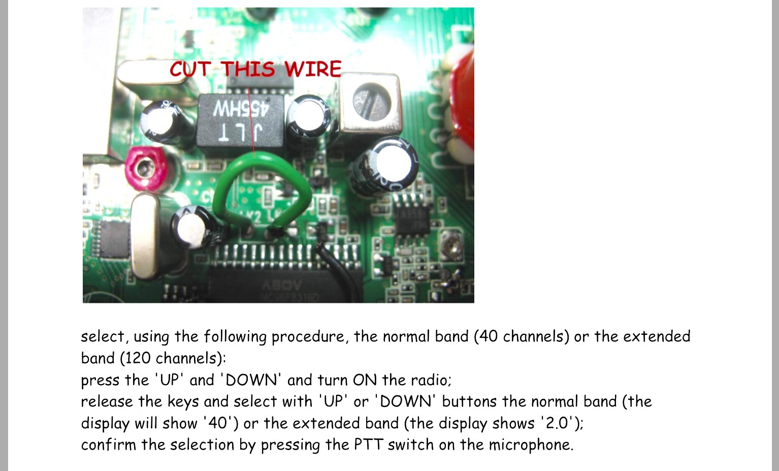 Modifications Simonthewizard Microphone Wiring Diagram Ranger Dynascan Pmr Unlock Channels 2w Power Http Tinyurlcom Zxlrcfw