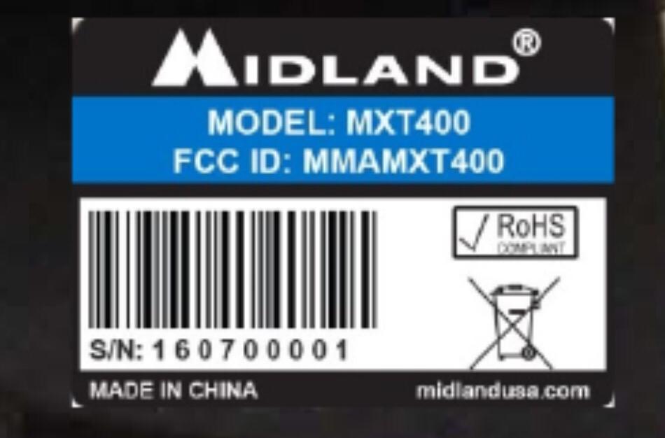 Midland MXT-400 FRS/GMRS 40w Radio | Simonthewizard