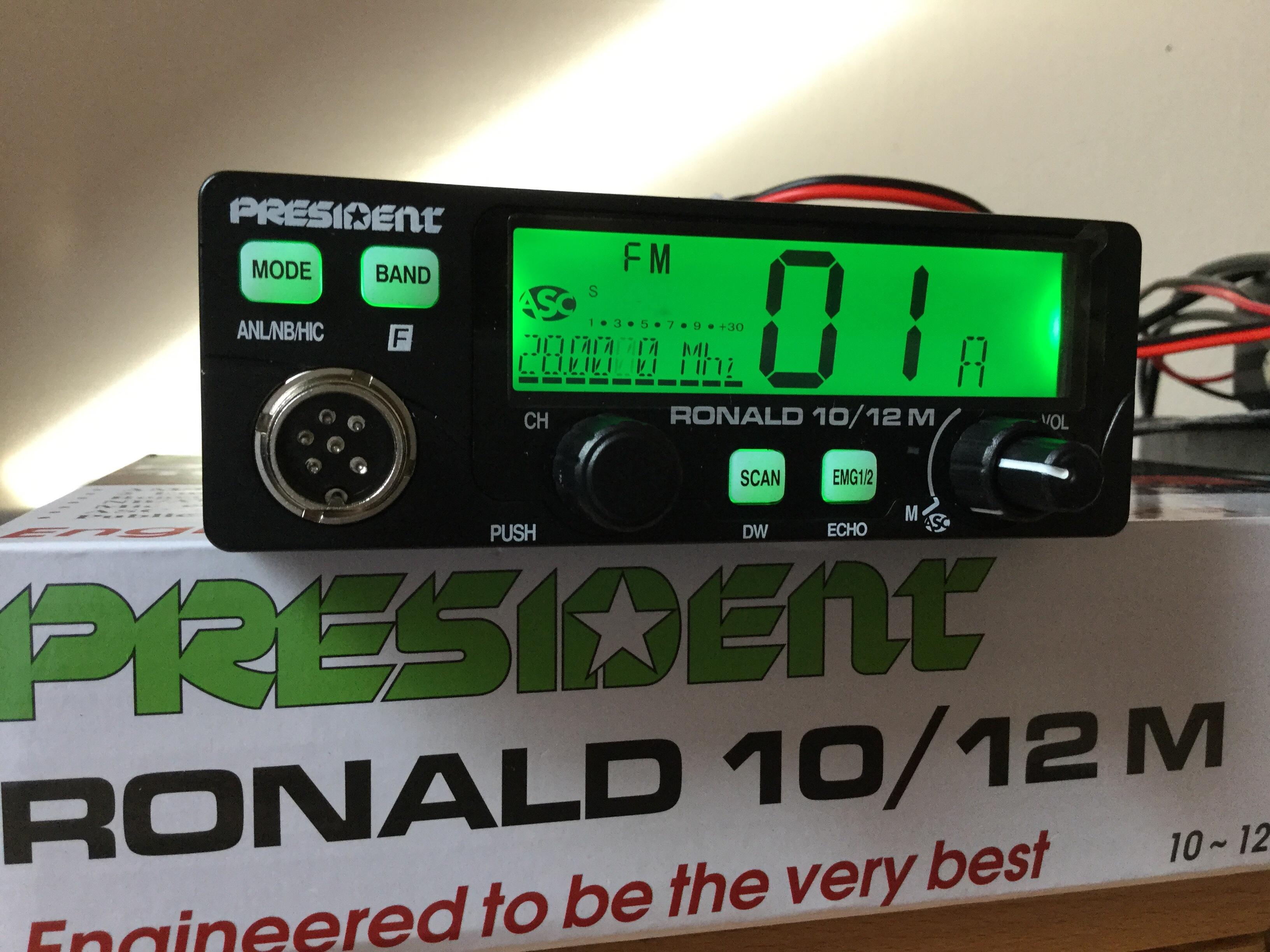 President Ronald 10 Meter Amateur Ham Radio