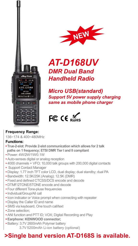 DMR* New Anytone AT-D168UV | Simonthewizard