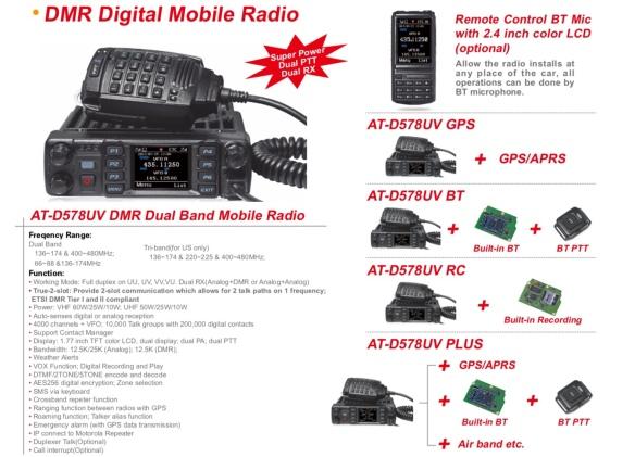 DMR NEWS* AT-D578UV Options | Simonthewizard